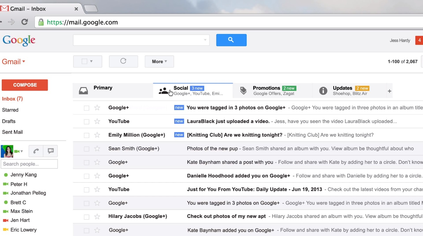 Gmail's New User Interface