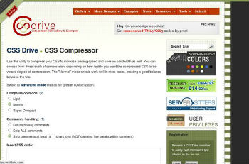 Webmaster Tool No.10- CSS Compressor by CSS Drive
