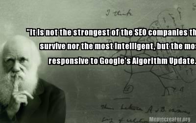 Darwin about SEO
